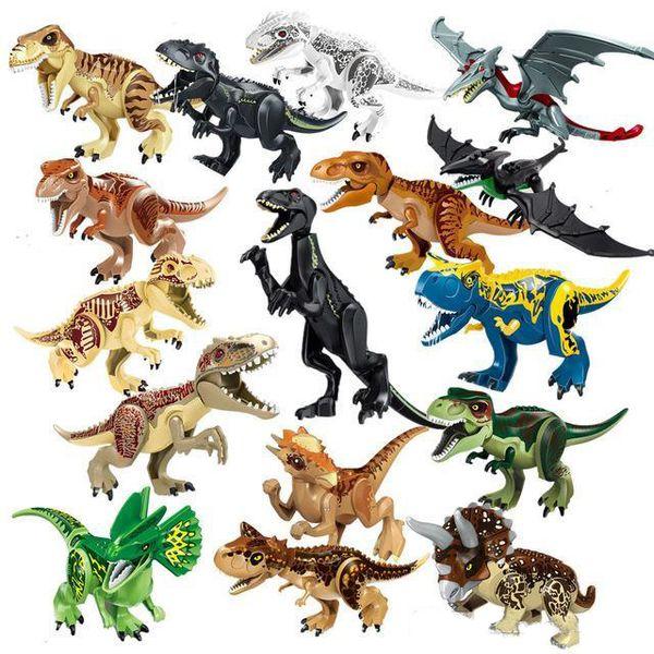 Jurassic World Dinosaur Indominus Indoraptor Tyrannosaurus Animal Model Building Blocks Figures Toys For Children Gifts