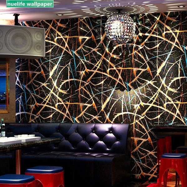 Modello riflettente stile cinese KTV Karaoke parete panno tema scatola speciale hotelcorridor bar gioco sala rink sfondo muro di carta