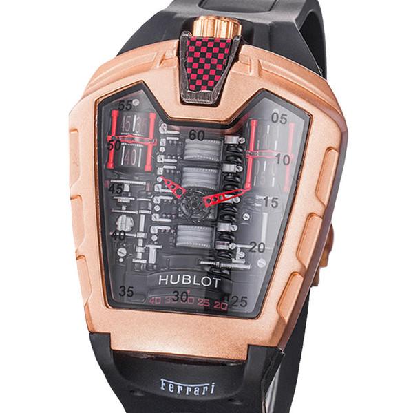 Luxury Classic HUB x Ferrarli Limited Concept Sports Car Wristwatch Sports Mens Watches Send with gift box