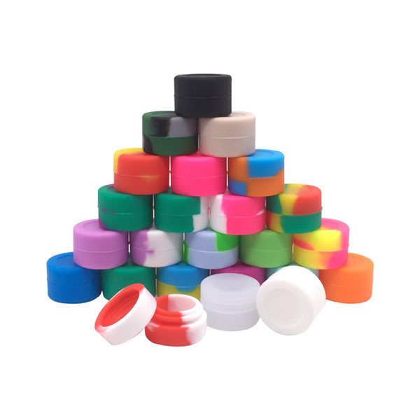 Non-stick 3ml Silicone Jars Container For Wax Oil Slicks Silicone Storage Container With Lids 100pcs/lot