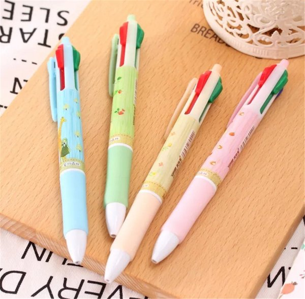 Pet Forest Four-color Ball Pen Creative Atom Pen Student Lovely Multifunctional Color Ball