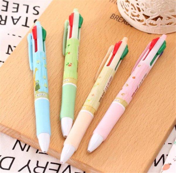 Pet Forest Vier-Farben-Kugelschreiber Kreative Atom Pen Student Schöne Multifunktionsfarbe Ball
