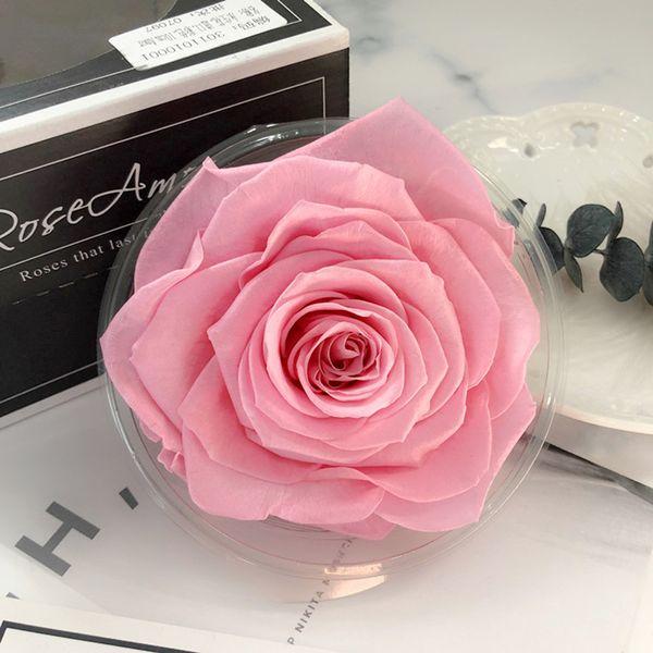 1 PCS Flores preservadas de alta calidad Flor Inmortal Rose 9CM diámetro regalo del día de la madre Eternal Life Flower Material caja de regalo