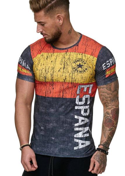 Camisolas de camisas de bandeira espanhola homens, espanha camisa de futebol t shirt, top quality respirável sportwear iptv t-shirt espanha
