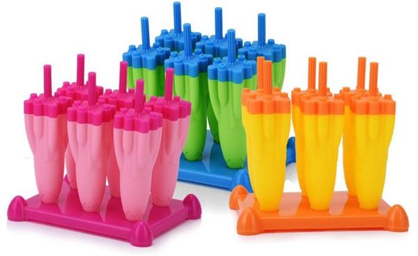 Rocket Design Eisform Kreative Feuer Pfeil geformte Eiswürfelschale Sommerprodukte 3 Farben Eis am Stiel Form