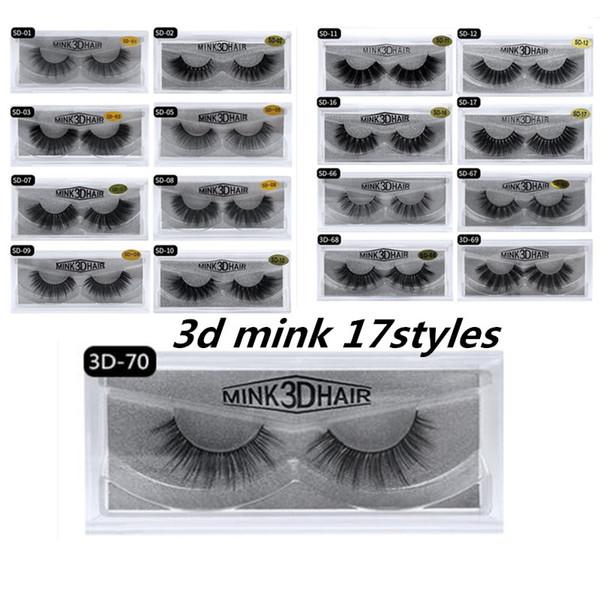 EPACK 3D Mink Eyelashes Eye makeup Mink False lashes Soft Natural Thick Fake Eyelashes 3D Eye Lashes Extension Beauty Tools 17 styles