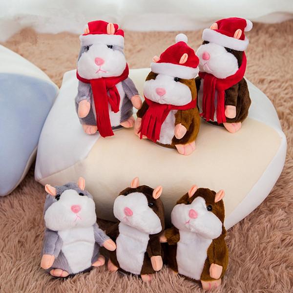Talking Hamster Mouse Plush Dolls 15CM Speak Talking Sound Pet Hamster Stuffed Educational Toys Christmas Children Gifts TTA2054-2