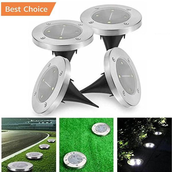LED lumière souterraine 8 LED d'alimentation solaire ensevelie sous sol Lumière Chemin de Lumière Jardin Jardin Paysage extérieur décoratif étanche IP65