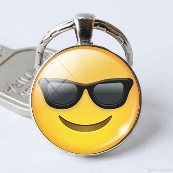 New popular Emoji Keychain Cute Charm Pendant Keychains Emotion Smiley Small pendant key ring free shipping