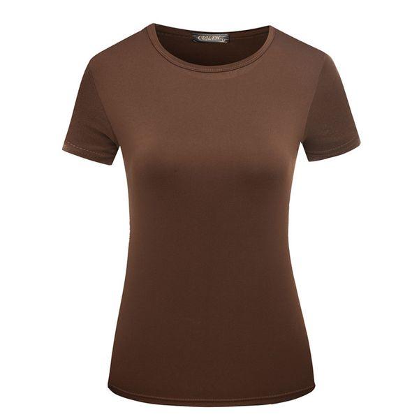 Бесплатная доставка женская рубашка о-образным вырезом с коротким рукавом футболки новая женщина Slim Fit футболка майка лето топы 7 цветов YKD10