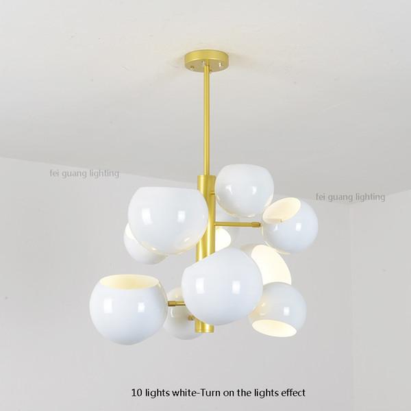 10 leuchtet weiß