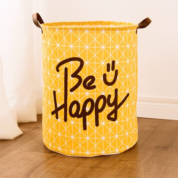 Fashion Hot Selling Large Cotton and Linen Waterproof Hamper Fabric Folding Clothes Dirty Clothes Toys Storage Basket Tweezers Box