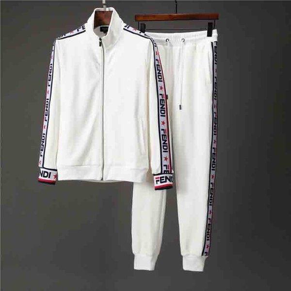 Suits CMQ1838 Koşu 2020 Yüksek Kalite Erkek Tişörtü Eşofman Marka Giyim Erkek eşofman Ceketler Spor Takımları