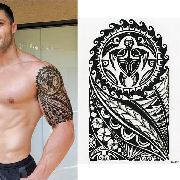 Tatuagens Nas Costas Tatuagem Temporária Polinésia Tartaruga Tribal Homens Mulheres Maori Impermeável Modelos De Tatuagens De Beautys8 333