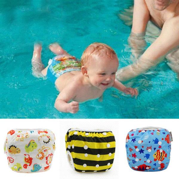 27 couleurs unisexe taille unique imperméable réglable piscine couche culotte piscine pant 10-40 lbs natation couche bébé réutilisable couverture de piscine lavable y