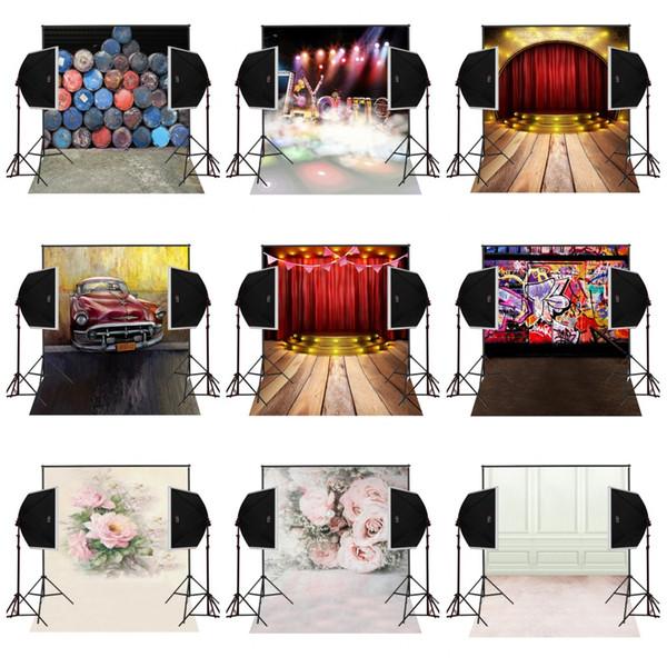 custom 5X7FT music stage performance vinyl photography backdrop photo background digital music studio prop comunion decoracion for party