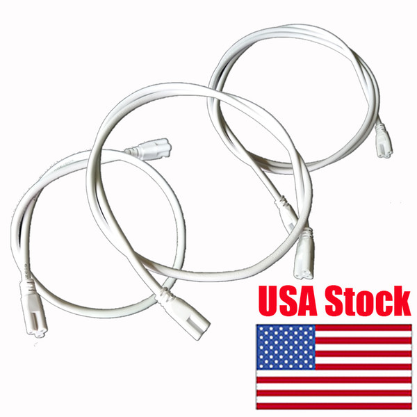 top popular T5 T8 Double End 3Pin LED Tube Connector Cable Wire,Extension Cord US plug with switch For Integrated LED Fluorescent Tube Light Bulb 2021