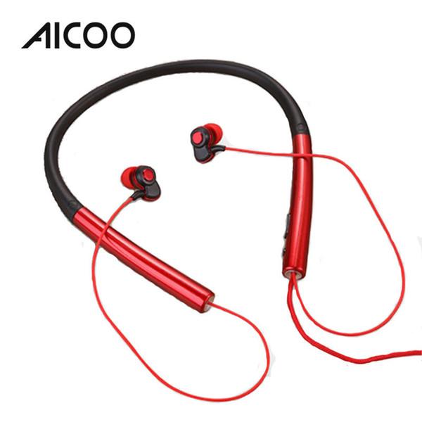 AICOO N2 Wired Neckband Headset In-Ear mit Mikrofon Rauschunterdrückung Stereo-Kopfhörer für iPhone XS XR Samsung Android Kleinpaket