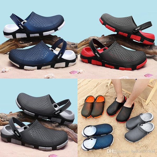 high quality designer sandals Jelly beach shoes men Sandals Casual Shoes Slippers Beach flip-flops Outdoor Slippers Light Weight Sandals