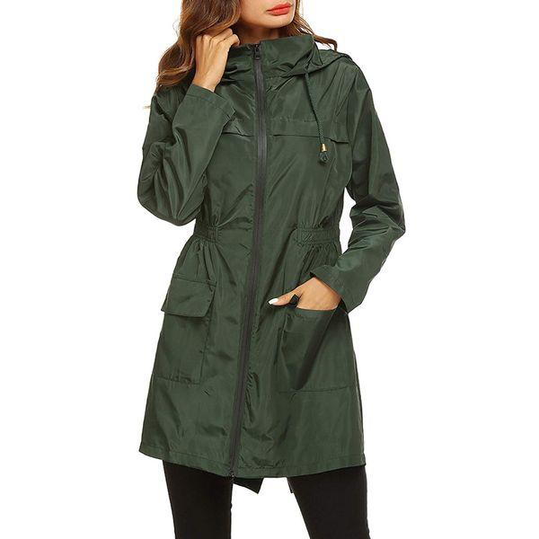 CALOFE 2019 femmes imperméable veste capuche compressible en plein air vêtements de randonnée légère imperméable pour les femmes