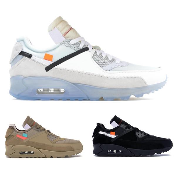 Brand New 90 Desert Ore Mens Designer Schuhe Schwarz Weiß Laufschuhe Top Männer Frauen 90er Jahre Sport Sneakers Größe 40-45