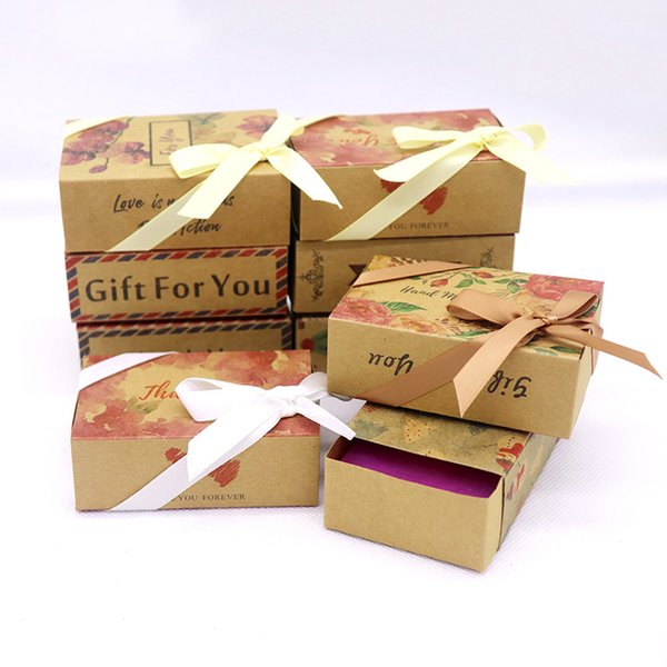 8.4*5.8*3cm flower box new best selling Designs printed gift box Diy handmade love wedding favor gift Soap Baby Shower