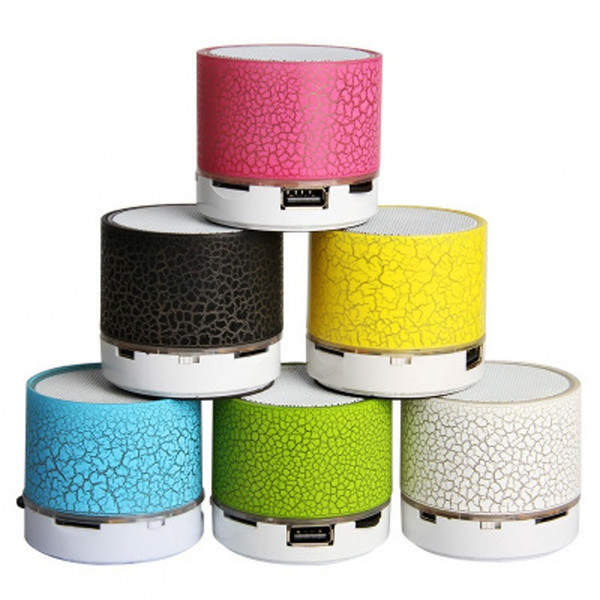LED A9 Portable Wireless Bluetooth Speaker Mini Hands Free Crack Bluetooth Speakers Support Music USB with LED lights for iPhone Smartphone