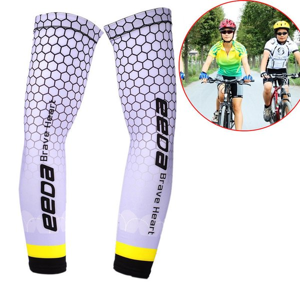 Men Cycling Running Bicycle UV Sun Protection Cuff Cover Protective Arm Sleeve Bike Sport Arm Warmers Sleeves AS45