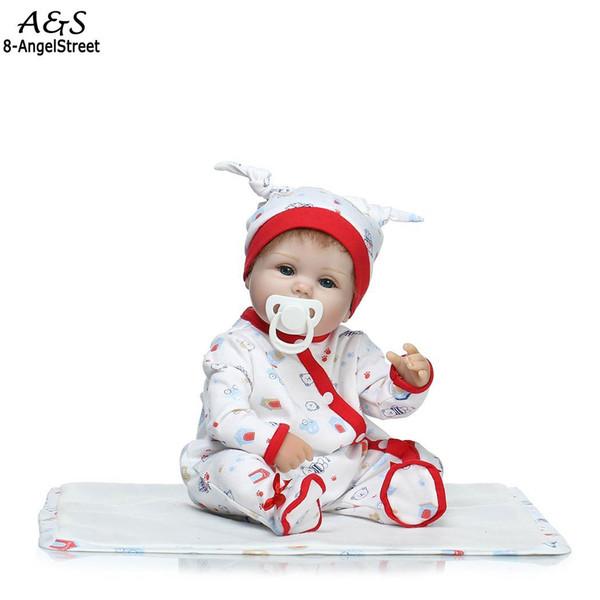 Reborn silikon Ile bebek tam Playmate Çocuklar Unisex Bebek vücut Koleksiyon Silikon Yumuşak bebekler Gerçekçi Giysileri reborn Hediye