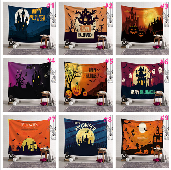 Halloween Wall Hanging Tapestry Mural Mats Beach Towel Picnic Blanket Sofa Cover Party Backdrop Festival Home Decor Polyester Tablecloth