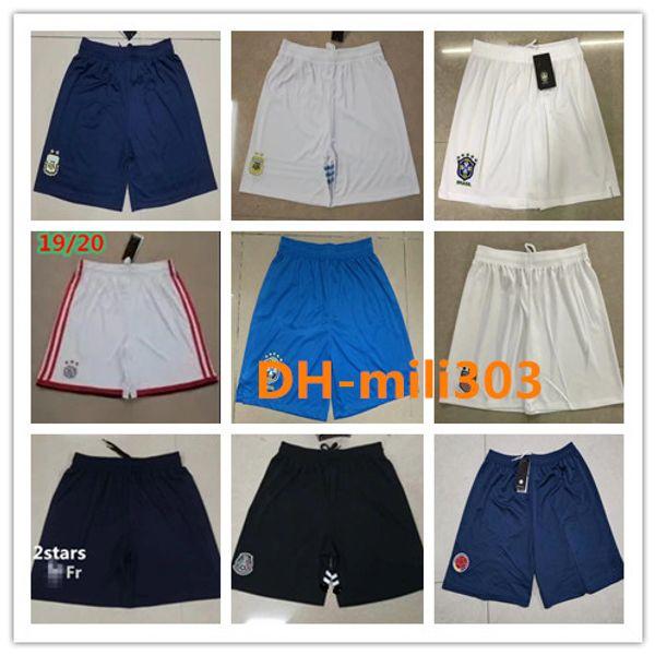 qualité Thai 2019 2020 Shorts football Paris 19 20 short Ajax marseille football 19/20 Brésil Argentine Mexique équipe nationale Pantalons courts