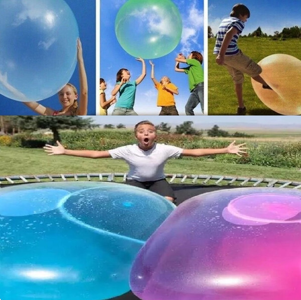 New Amazing Bubble Ball Funny Toy Water-filled TPR Balloon For Kids Adult Outdoor wubble bubble ball Inflatable Toys Party Decorations 4878