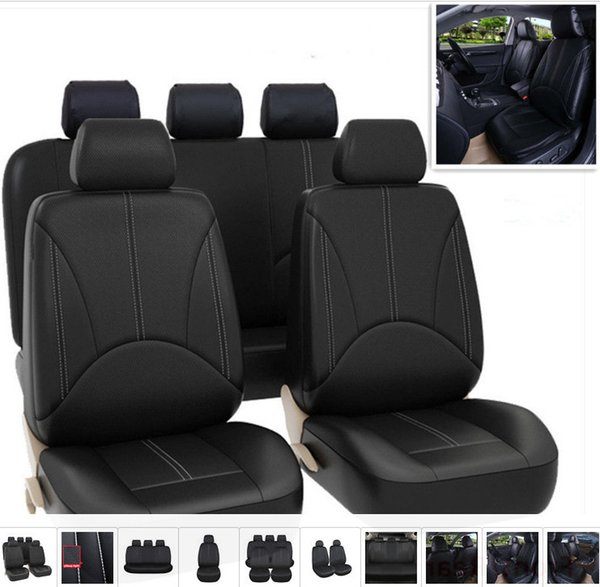 top popular PU leather car seat covers four seasons all-purpose waterproof dust-proof available for most five-seater cars Automobile interior fittings 2019