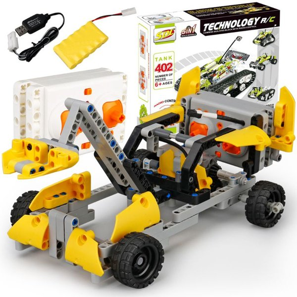 wholesale 2017A-29 RC Car Model Building Blocks 2.4GHZ 2CH Remote Control USB Charging Toy Vehicle Racing Cars