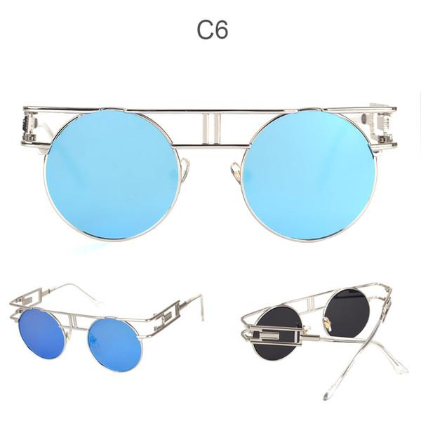 C6 miroir bleu argenté