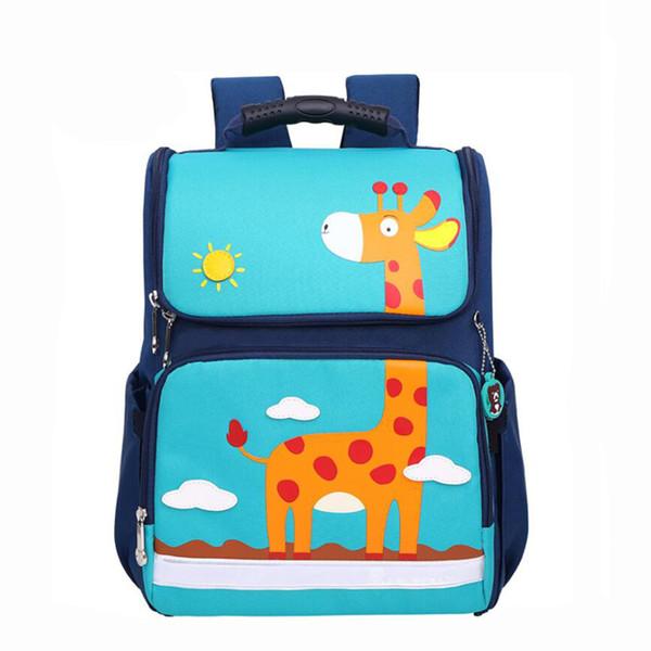 2019 New Children School Bags for Girls and Boy cartoon backpack Flamingo dinosaur giraffe print Design Student School Backpacks