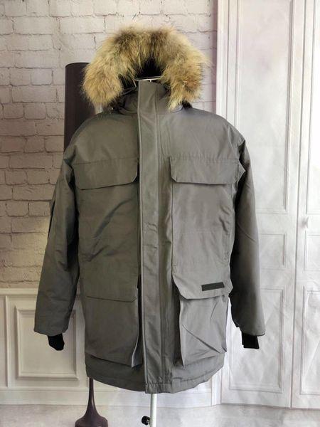 Decoración de bolsillo de invierno de los abrigos capa caliente venta de moda Escudo Canadá Frío Prevención para hombre de las chaquetas de invierno Star el mismo estilo del diseñador del Mens