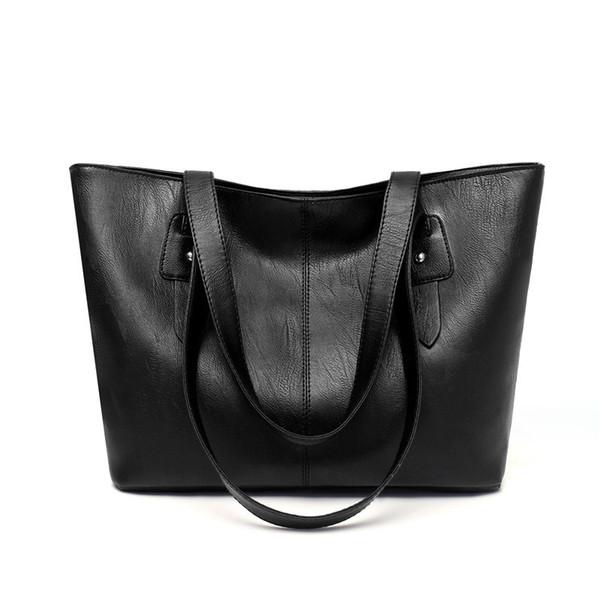 good quality 2019 Women Handbag Large Famous Designers Pu Leather Black Handbags Women Big Tote Bags Female New Messenger Bags
