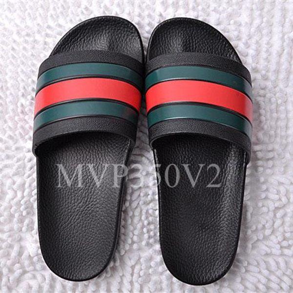 NUEVA Europa Marca de moda para hombre sandalias de diseño de lujo causal antideslizante verano huaraches sandalias chanclas diseñador zapatillas Diapositivas