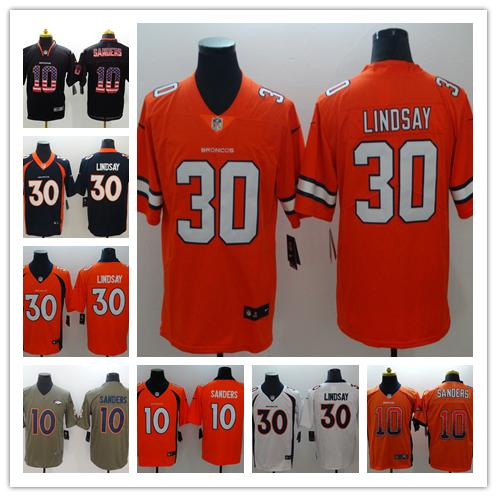 new styles b5e03 dd33f 2019 New Mens 10 Emmanuel Sanders Denver Broncos Jerseys 100% Stitched  Embroidery Broncos Phillip Lindsay Color Rush Football Jerseys Graphic Tees  Tie ...