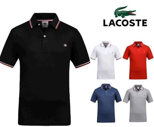 Sommer polo shirt 2019 marke herrenmode baumwolle kurzarm polo krokodil stickerei shirts männlich solide jersey atmungs tops tees