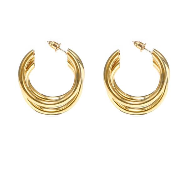heiße Verkaufsbandohrringe Frauen arbeiten einfache C-Art halbkreisförmige geometrische Ohrring-Schmucksachen aretes um