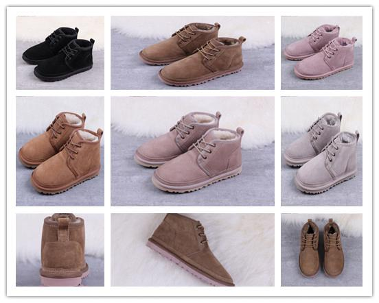 best selling new women fashion Winter Wool Shoe Boots Neumel Suede Boots Men's Classic Boots Newm Series Straps Casual Warm Mini Boot Chestnut 2329#