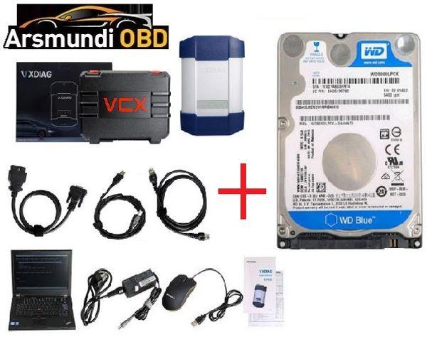 Meilleur VXDIAG multi outil de diagnostic pour la pleine Marques HONDA / GMVW / FORD / MAZDA / TOYOTA / PIWIS / Subaru / VOLVO / BMW / BENZ avec 2To HDD Lenovo T420