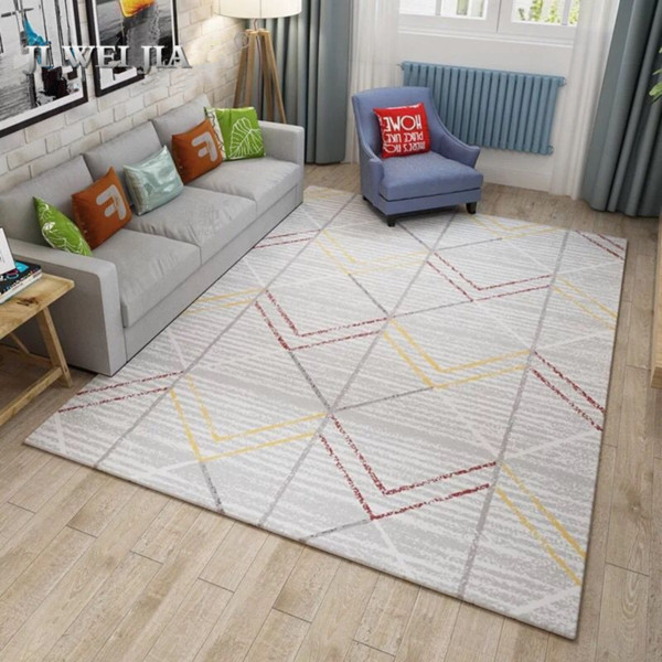 Large Vintage Carpets For Living Room Bedroom Kids Room Nordic Abstract Art Sofa Area Rugs Doormat Yoga Pad Antiskid Floor Mat