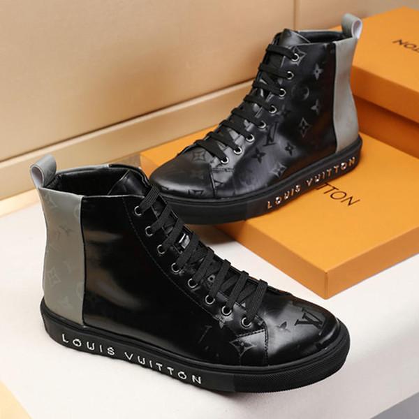 Botas de moda dos homens de alta top respirável homens sapatos bottes hommes zapatos de hombre moda sapatos mens ankle boots couro tatuagem sapatilha bota
