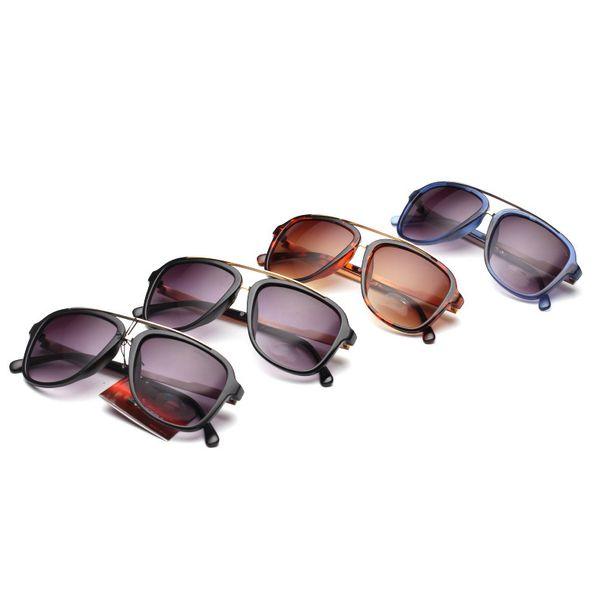 Le plus nouveau CA 0139 lunettes de soleil miroir double faisceau grenouille étoiles masculines et féminines avec le même paragraphe lunettes de soleil populaires