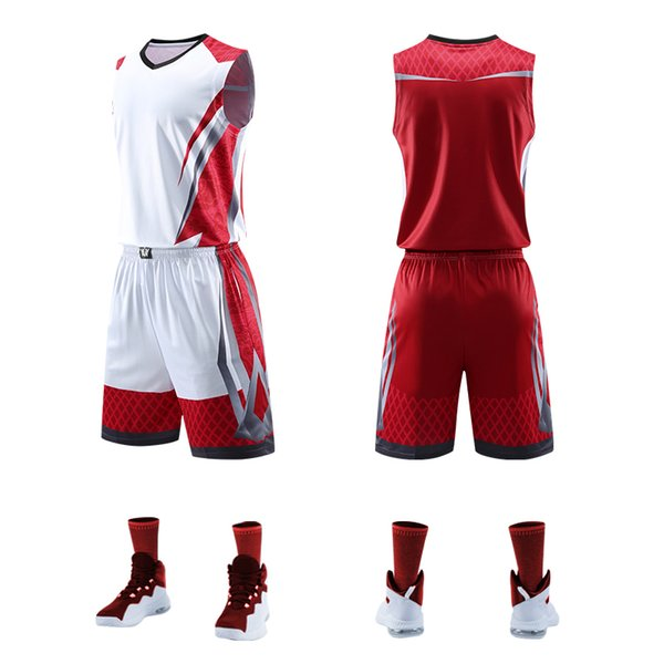 Top Quality Men Women Basketball Jerseys Sets Uniforms Sport Kit Clothing Shirts Shorts Suits Side Pockets Customized Print Draw Q190521