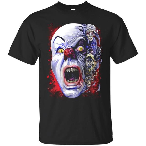 PENNYWISE Siyah T-shirt BT Dans Palyaço Cadılar Bayramı Korku Kısa Kollu S-3XL