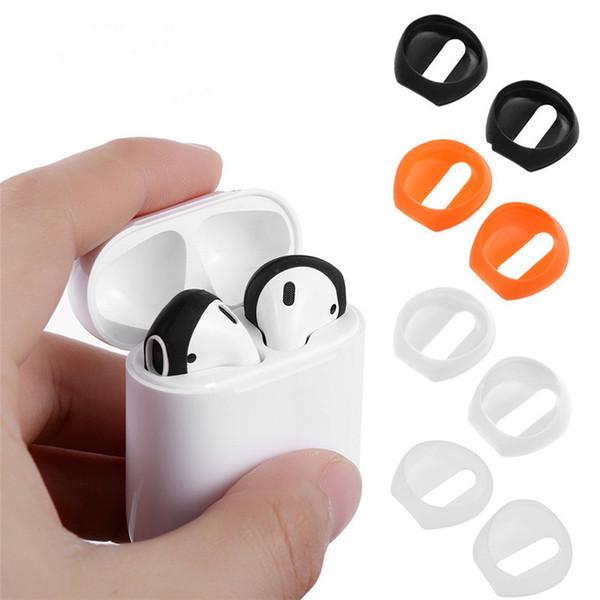 Nueva Moda Color suave Ultra Delgado Extremidades Del Auricular Antideslizante Earbud Cubierta de la Caja del Auricular de Silicona Para Apple AirPods Earpods